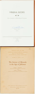 Books:Science & Technology, [Mineral Books]. Pair of Titles, One of Which is SIGNED. Various publishers and dates.... (Total: 2 Items)