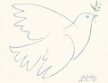Fine Art - Work on Paper:Print, After Pablo Picasso . Dove of Peace, 1961. Offset lithographin colors on paper. 20 x 26 inches (50.8 x 66 cm) (sheet). ...