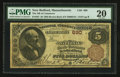 National Bank Notes:Massachusetts, New Bedford, MA - $5 1882 Brown Back Fr. 467 The NB of Commerce Ch. # 690. ...