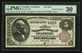 National Bank Notes:Louisiana, Franklin, LA - $5 1882 Brown Back Fr. 471 The First NB Ch. # 4555. ...