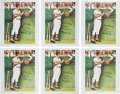 Baseball Collectibles:Others, Circa 2000 Signed Norman Rockwell Lithographs from The Brooks Robinson Collection Lot of 6....