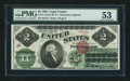 Large Size:Legal Tender Notes, Fr. 41 $2 1862 Legal Tender PMG About Uncirculated 53.. ...