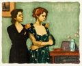 Prints, Malcolm Liepke (American, b. 1954). Helping with the Dress, 1996. Lithograph in colors on paper. 19 x 24 inches (48.3 x ...