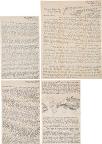H.P. Lovecraft. Ten Autograph Letters Totaling Forty-six Pages Signed by H.P. Lovecraft to Frederic Jay Pabody. Provi
