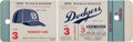 Baseball Collectibles:Tickets, 1955 Brooklyn Dodgers World Series Game 3 Full Ticket President'sSuite. ...