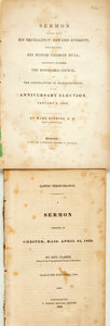 Books:Religion & Theology, Saul Clarke. Saint's Perseverance. A Sermon Preached at Chester, Mass. April 25, 1830. Northampton: T. Watson Sh... (Total: 2 Items)