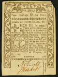 Colonial Notes:Rhode Island, Rhode Island May 1786 2s 6d Extremely Fine.. ...
