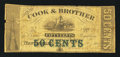 Obsoletes By State:Louisiana, New Orleans, LA-Cook & Brother 50¢ Dec. 14, 1861. ...