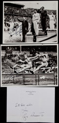 Miscellaneous Collectibles:General, Owens, Bannister and Mathias Signed Photographs, Etc. Lot of 3....