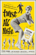 "Movie Posters:Rock and Roll, Twist All Night (American International, 1962). Autographed OneSheet (27"" X 41""). Rock and Roll.. ..."