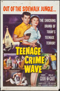 "Movie Posters:Exploitation, Teenage Crime Wave & Other Lot (Columbia, 1955). One Sheets (2)(27"" X 41""). Exploitation.. ... (Total: 2 Items)"