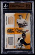 Baseball Cards:Singles (1970-Now), 2003 Donruss Classics Roberto Clemente/Honus Wagner Classic Combos Jersey/Seat Card #4 BGS Gem Mint 9.5....