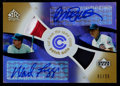 Baseball Cards:Singles (1970-Now), 2005 UD Reflections Cut From The Same Cloth Patch Auto RyneSandberg/Wade Boggs 01/25....