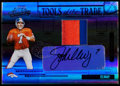 Football Collectibles:Uniforms, 2005 Playoff Absolute Memorabilia John Elway Tools of The Trade Autograph Jersey Patch Card # TT-47....