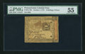 Colonial Notes:Pennsylvania, Pennsylvania October 1, 1773 2s 6d PMG About Uncirculated 55.. ...