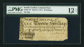 Colonial Notes:North Carolina, North Carolina March 9, 1754 20s PMG Fine 12 Net.. ...