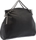 "Luxury Accessories:Bags, Chanel Black Lambskin Leather Hobo Shoulder Bag with SilverHardware. Excellent Condition. 16"" Width x 10"" Height x6""..."