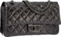 Luxury Accessories:Bags, Chanel Black Quilted Distressed Leather Medium Reissue Double FlapBag with Gunmetal Hardware. Excellent to Pristine Condi...