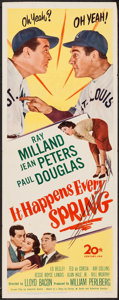 "Movie Posters:Sports, It Happens Every Spring (20th Century Fox, 1949). Insert (14"" X 36""). Sports.. ..."