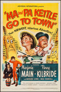 "Movie Posters:Comedy, Ma and Pa Kettle Go to Town (Universal International, 1950). One Sheet (27"" X 41""). Comedy.. ..."