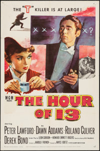 "The Hour of 13 (MGM, 1952). One Sheet (27"" X 41""). Mystery"