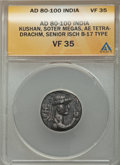 Ancients:Ancient Lots  , Ancients: Greek - Kushan. Lot of three (3) AR and AE coins....(Total: 3 coins)