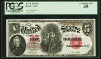 Fr. 90 $5 1907 Legal Tender PCGS Extremely Fine 45