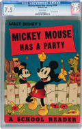 Golden Age (1938-1955):Cartoon Character, Mickey Mouse Has a Party #798 (Whitman, 1938) CGC VF- 7.5 Creampages....
