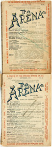 Books:Periodicals, [Social Reform Magazine]. B.O. Flower, editor. Two issues of TheArena. Boston Mass.: The Arena Publishing Company. ... (Total:2 Items)