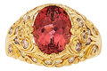 Estate Jewelry:Rings, Pink Tourmaline, Colored Diamond, Gold Ring. ...