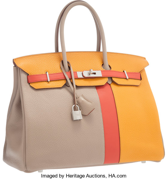 79bb98679e Hermes Limited Edition 35cm Gris Tourterelle