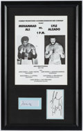 Boxing Collectibles:Autographs, Muhammad Ali and Lyle Alzado Program and Signed Cut SignaturesDisplay....
