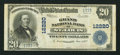 National Bank Notes:Missouri, Saint Louis, MO - $20 1902 Plain Back Fr. 661 The Grand NB Ch. #12220. ...
