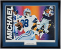 Football Collectibles:Others, Michael Irvin Signed Lithograph....