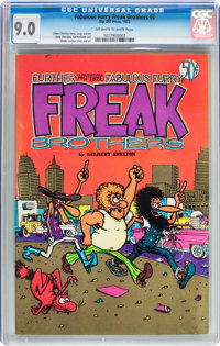 The Fabulous Furry Freak Brothers #2 (Rip Off Press, 1972) CGC VF/NM 9.0 Off-white to white pages