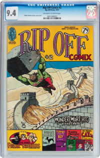 Rip Off Comix #2 (Rip Off Press, 1977) CGC NM 9.4 Off-white to white pages