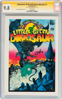 The Adventures of the Little Green Dinosaur #1 (Last Gasp, 1972) CGC Signature Series NM/MT 9.8 White pages