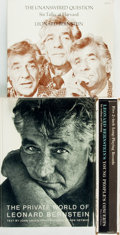 Books:Music & Sheet Music, [Leonard Bernstein]. Group of Three Books by and about LeonardBernstein, Two with Phonograph Records. Various publishers an...(Total: 3 Items)