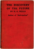 Books:Science & Technology, H.G. Wells. The Discovery of the Future. London: T. Fisher Unwin, 1902....