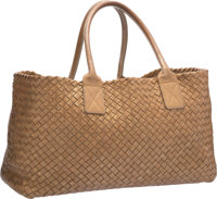 Bottega Veneta Limited Edition Gold Woven Leather Cabat Tote Bag, 79/500 Excellent Condition