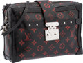 Luxury Accessories:Bags, Louis Vuitton Black & Red Monogram Infrarouge Canvas SoftPetite Malle Bag with Silver Hardware. Very Good to ExcellentCo...