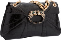 """Gucci Black Crocodile Dragon Shoulder Bag by Tom Ford Excellent Condition 12"""" Width x 6.75"""" Heigh"""