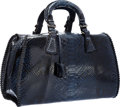 "Luxury Accessories:Bags, Giorgio Armani Blue Python Bag. Excellent Condition. 15""Width x 9"" Height x 6"" Depth. ..."