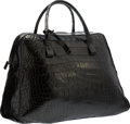 "Luxury Accessories:Bags, Bottega Veneta Black Crocodile Travel Bag. Very GoodCondition. 17"" Width x 11"" Height x 7.5"" Depth. ..."