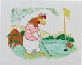 Animation Art:Production Drawing, Tom McKimson - Foghorn Leghorn and Henry Hawk Painting Original Art(c. 1990s)....