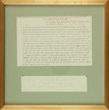 Autographs:Artists, Thornton Wilder Typed Passage Signed, With Written Quote. ...