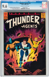 T.H.U.N.D.E.R. Agents #12 Boston pedigree (Tower, 1967) CGC NM+ 9.6 Off-white to white pages