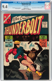 Thunderbolt #52 Boston pedigree (Charlton, 1966) CGC NM 9.4 White pages