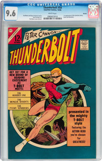 Thunderbolt #54 Boston pedigree (Charlton, 1966) CGC NM+ 9.6 White pages
