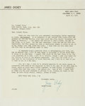 Autographs:Authors, James Dickey Typed Letter Signed. ...